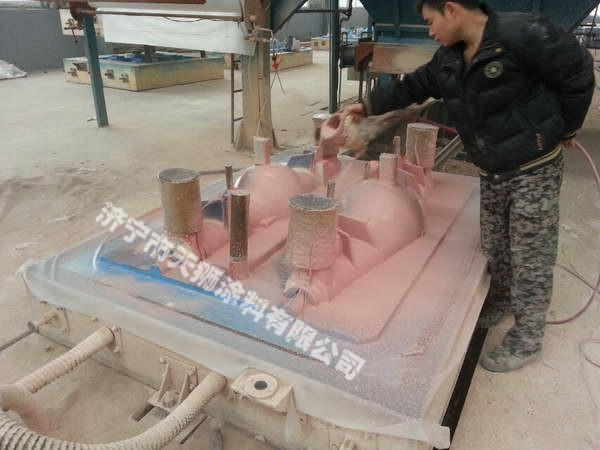 消失模涂料保护砂型表面最初硬壳的形成